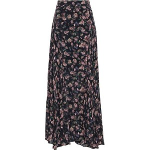 Black Diamond gathered floral-print georgette maxi skirt