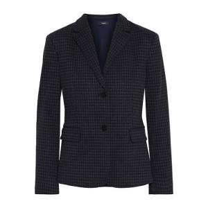 Black Houndstooth jacquard blazer