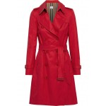 Red Cotton-gabardine trench coat