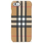 Black Checked coated leather iPhone 8 case