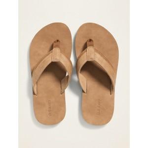 Faux-Leather Flip-Flops for Boys