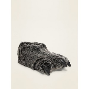 Faux-Fur Critter Slippers for Boys