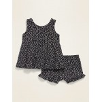 Printed Sleeveless Jersey-Knit Top & Bloomers Set for Baby