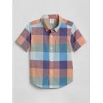 Toddler Plaid Short Sleeve Shirt