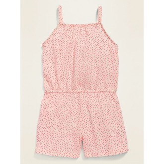 Sleeveless Printed Romper for Toddler Girls