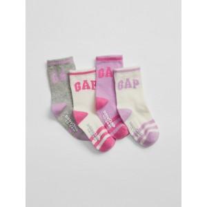 babyGap Logo Crew Socks (4-Pack)