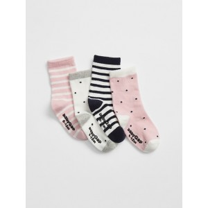 Baby Print Socks (4-Pack)