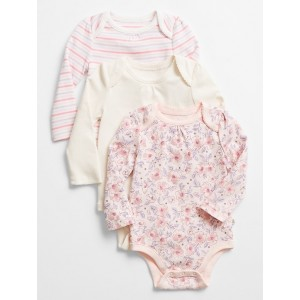 babyGap | Print Long Sleeve Bodysuit (3-Pack)