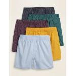 Soft-Washed Poplin Boxers 5-Pack for Men
