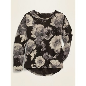 Softest Long-Sleeve Printed Tee for Girls