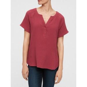 V-Neck Woven Shirt