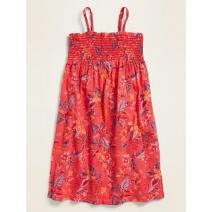 Floral-Print Smocked Cami Dress for Girls