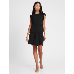 Petite Smocked Mini Dress