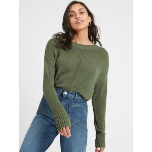 Tape Yarn Crew-Neck Sweater