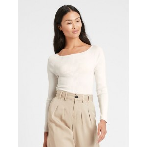 Boat-Neck Sweater Top