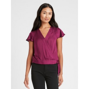 Petite Smocked Cropped Top