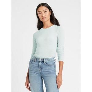 Slub Cotton-Modal Long-Sleeve T-Shirt