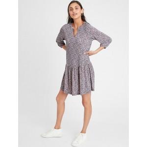 Petite Flounce-Hem Shift Dress