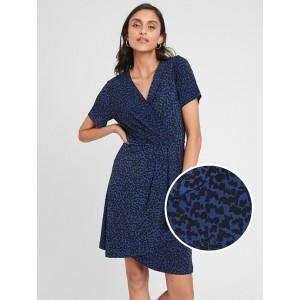 Petite Pleated Wrap Dress