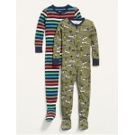 Unisex Footed Pajama One-Piece 2-Pack for Toddler & Baby