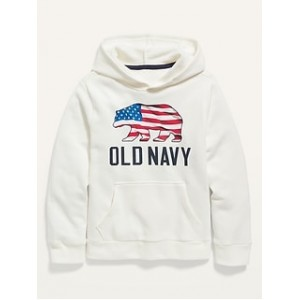 Logo-Graphic Pullover Hoodie for Boys