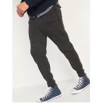Sweater-Fleece Zip-Pocket Jogger Sweatpants for Men