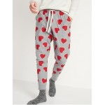 Patterned Flannel Jogger Pajama Pants for Men