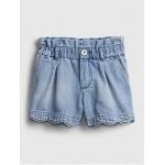 Toddler Scalloped Pull-On Denim Shorts