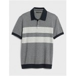 Chest Block Striped Sweater Polo