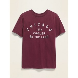Chicago Graphic Soft-Washed Tee for Boys