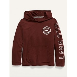 Logo-Graphic Pullover Tee Hoodie for Boys