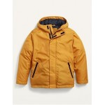 Water-Resistant Hooded Jacket for Boys