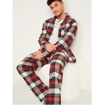 Plaid Flannel Pajama Set for Men