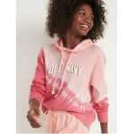 Logo-Graphic Pullover Hoodie for Women
