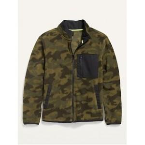 Micro Fleece Camo Zip Jacket for Boys