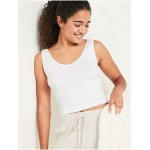 Seamless Rib-Knit V-Neck Tank Top for Women