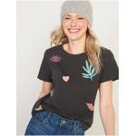 EveryWear Graphic Slub-Knit Tee for Women