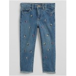 Toddler Floral Embroidered Jeans