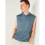Go-Dry Sleeveless French Terry Hoodie for Men