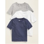 Unisex Crew-Neck Tee 3-Pack for Toddler