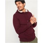 Cozy Sherpa-Lined French-Rib Pullover Hoodie for Men