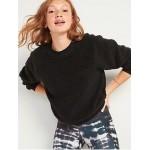 Loose Cozy Sherpa Sweatshirt for Women