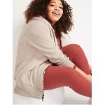 Cozy Oversized Sherpa-Lined Zip Hoodie for Women