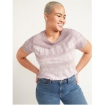 EveryWear Printed Slub-Knit Tee for Women