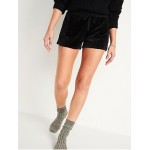 Mid-Rise Cozy Velour Lounge Shorts for Women -- 2.5-inch inseam