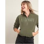 Logo-Graphic Micro Performance Fleece Half-Zip Sweatshirt for Women