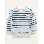 Striped French Terry Sweatshirt for Toddler Girls