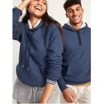 Cozy Sherpa-Lined Thermal-Knit Pullover Hoodie for Men
