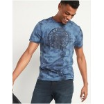 Logo-Graphic Tie-Dyed Tee for Men
