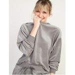 Cozy Velour Lounge Sweatshirt for Women